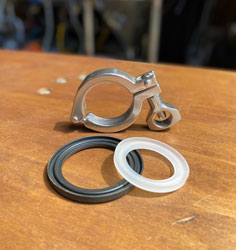 "New 1.5"" TC Economy Clamp and Flanged Gaskets"