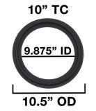 "10"" Tri Clover Compatible Gaskets"
