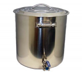 15 Gallon Kettle with Weldless Bulkhead and 3-piece SS Ball Valve
