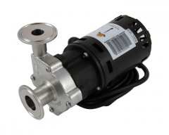 "Chugger X-Dry Stainless Steel Center Inlet pump with 1.5"" Tri Clover Compatible flanges"
