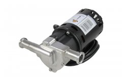 "Chugger X-Dry Stainless Steel Inline Pump with 3/4"" Tri Clover Compatible flanges"