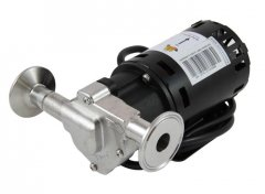 "Chugger X-Dry Stainless Steel Inline Pump with 1.5"" Tri Clover Compatible flanges"