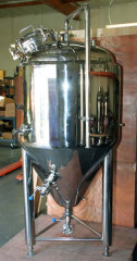 3 BBL Stainless Steel Glycol Jacketed Conical Fermentor