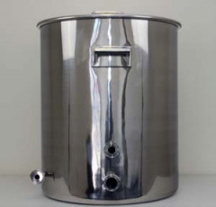30 Gallon TC Fitted Boil Kettle with Tangential Inlet and Temperature Port