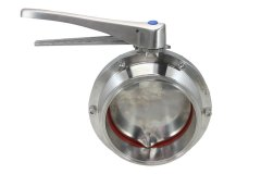"6"" Tri Clover Compatible Butterfly Valve - Stainless Steel Squeeze Trigger"