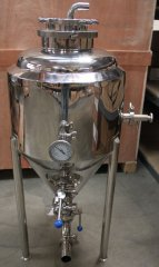 15 Gallon Stainless Steel Glycol Jacketed Conical Fermentor - Clearance