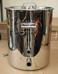 15 Gallon TC Fitted HLT or Boil Kettle with Temperature Port - Clearance