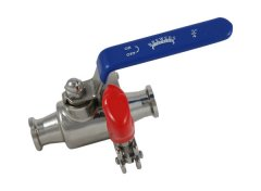 "3/4"" Tri Clover Compatible Tri Clamp Ball Valve- Quick Clean"