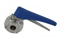 "1"" Tri Clover Compatible Butterfly Valve - Squeeze Trigger"