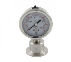Tri Clover Compatible Sanitary Pressure Gauge 0-30 PSI Bottom Mount