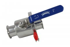 "2"" Tri Clover Compatible Tri Clamp Ball Valve- Quick Clean"