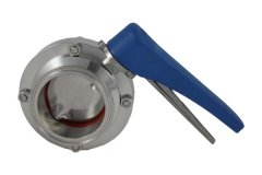 "4"" Tri Clover Compatible Butterfly Valve - Squeeze Trigger"