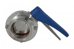 "3"" Tri Clover Compatible Butterfly Valve - Squeeze Trigger"