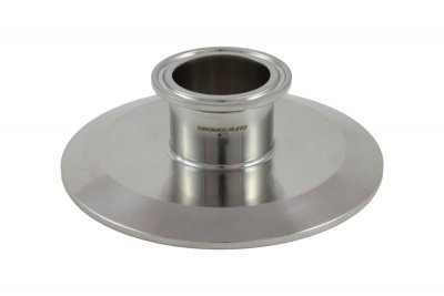 "Tri Clover Compatible 4"" X 1.5"" Cap Style Reducer"