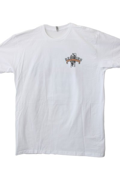 Front of Brewers Hardware T-Shirt - White