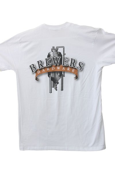 Back of Brewers Hardware T-Shirt - White