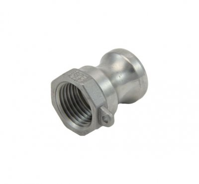 "1/2"" Cam and Groove Adapter X 1/2"" Female NPT"