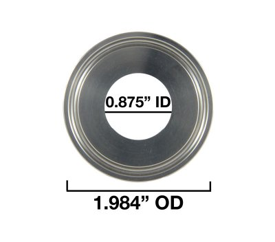 "0.875"" Inside Diameter and 1.984"" Outside Diameter"