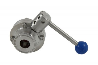 "1"" Tri Clover Compatible Butterfly Valve - Pull Trigger"