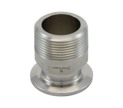 "1""/1.5"" Tri Clover Compatible X 1 1/4"" Male NPT"