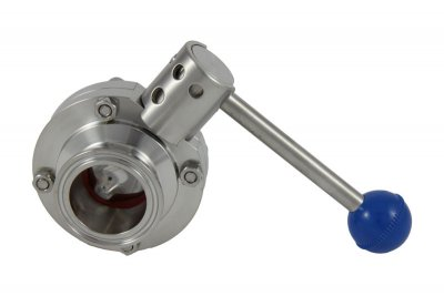 "1.5"" Tri Clover Compatible Butterfly Valve - Pull Trigger"