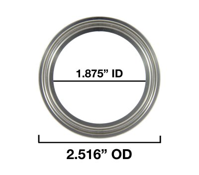 "1.875"" Inside Diameter and 2.516"" Outside Diameter"