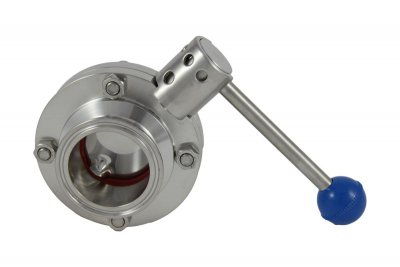 "2"" Tri Clover Compatible Butterfly Valve - Pull Trigger"
