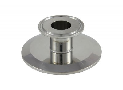 "Tri Clover Compatible 3"" X 1"" Cap Style Reducer"