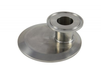 "Tri Clover Compatible 3"" X 1"" Cap Style Reducer Offset"
