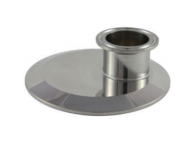 "Tri Clover Compatible 4"" X 1.5"" Cap Style Reducer - Offset"