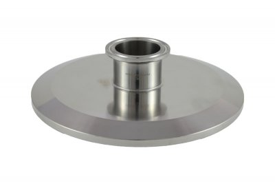 "Tri Clover Compatible 6"" X 1.5"" Cap Style Reducer"