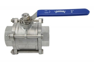 "2"" Full Port 3-Piece Ball Valve"