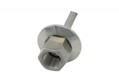 "1""/1.5"" Tri Clover Compatible Thermowell with 1/2"" FPT Inlet 6"" Length"